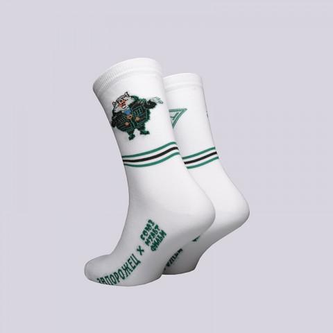мужские белые  носки запорожец heritage тайна третьей планеты Весельчак-белый - цена, описание, фото 2