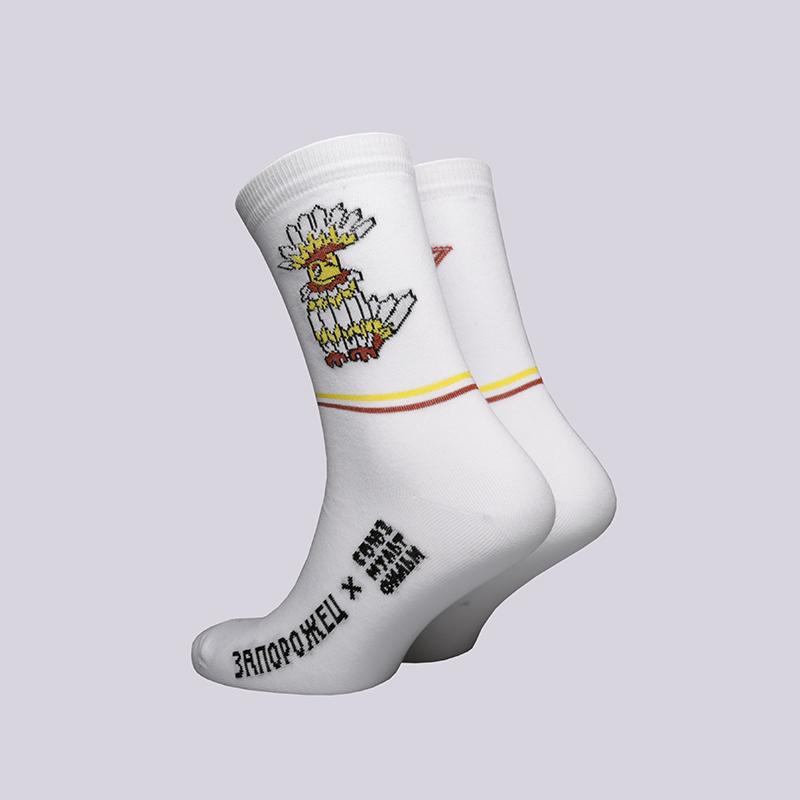 мужские белые  носки запорожец heritage тайна третьей планеты Говорун-белый - цена, описание, фото 2
