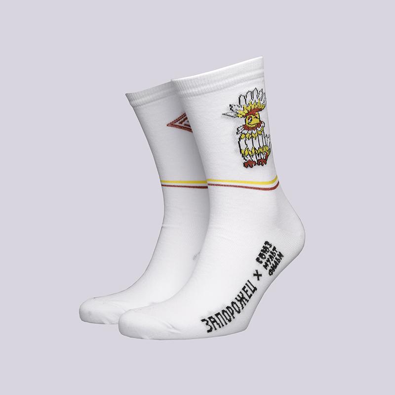 мужские белые  носки запорожец heritage тайна третьей планеты Говорун-белый - цена, описание, фото 1