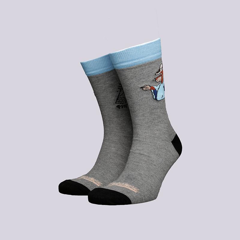 мужские серые  носки запорожец heritage шарик Шарик-18-серый - цена, описание, фото 1