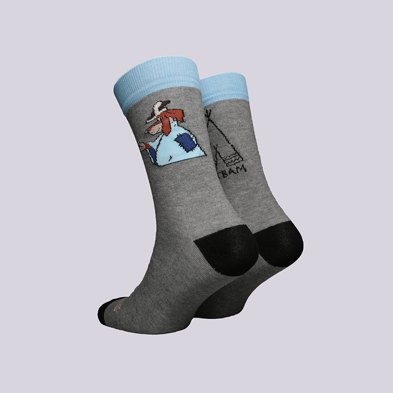 мужские серые  носки запорожец heritage шарик Шарик-18-серый - цена, описание, фото 2