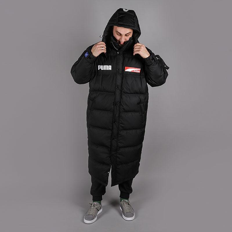 мужской черный пуховик puma x ader down coat 57695601 - цена, описание,  фото 1 9c9bcd33bf2