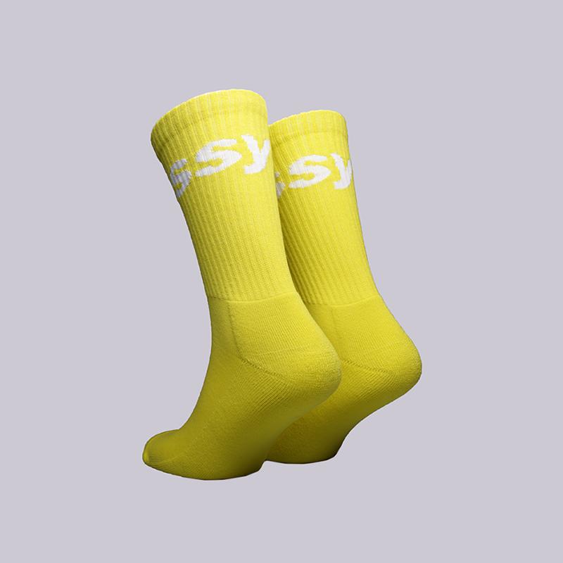 жёлтые  носки stussy jacquard logo 138603-yellow - цена, описание, фото 2