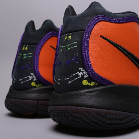 мужские оранжевые, чёрные  кроссовки nike kyrie 4 dotd tv pe 1 CI0278-800 - цена, описание, фото 4