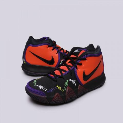 мужские оранжевые, чёрные  кроссовки nike kyrie 4 dotd tv pe 1 CI0278-800 - цена, описание, фото 2