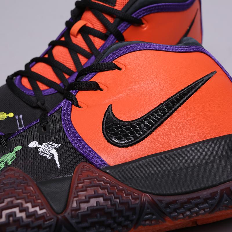 мужские оранжевые, чёрные  кроссовки nike kyrie 4 dotd tv pe 1 CI0278-800 - цена, описание, фото 7