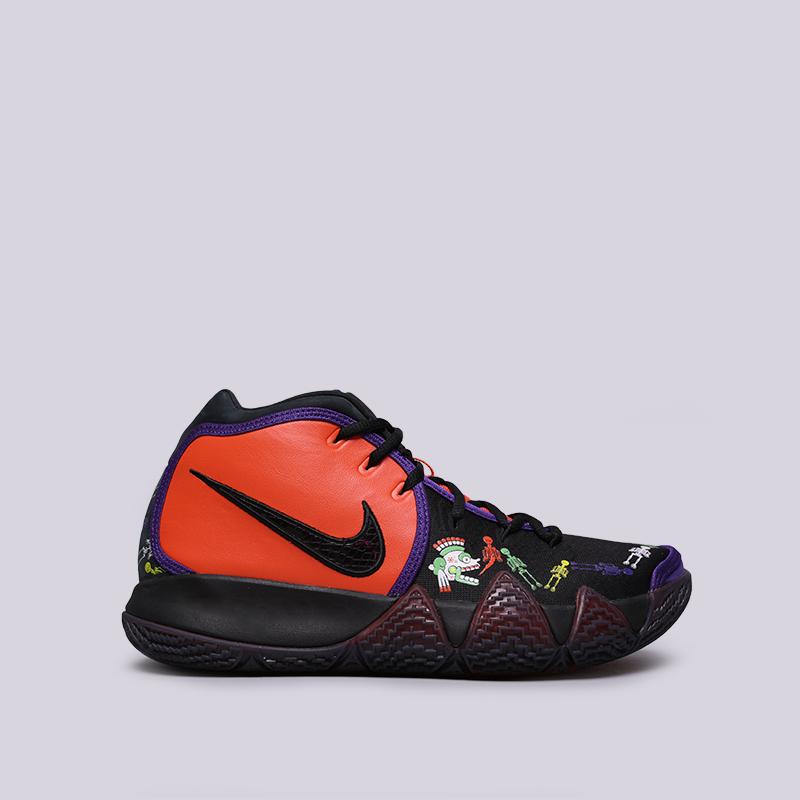 мужские оранжевые, чёрные  кроссовки nike kyrie 4 dotd tv pe 1 CI0278-800 - цена, описание, фото 1