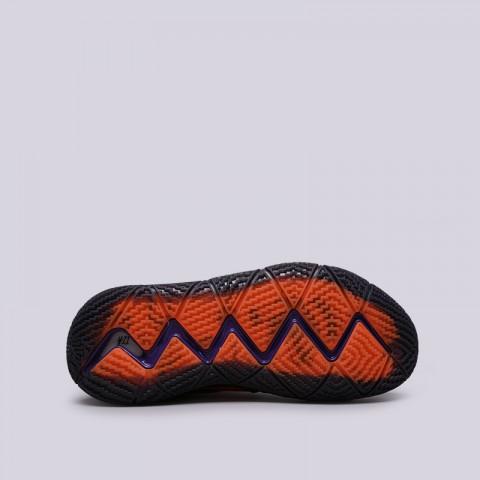 мужские оранжевые, чёрные  кроссовки nike kyrie 4 dotd tv pe 1 CI0278-800 - цена, описание, фото 3