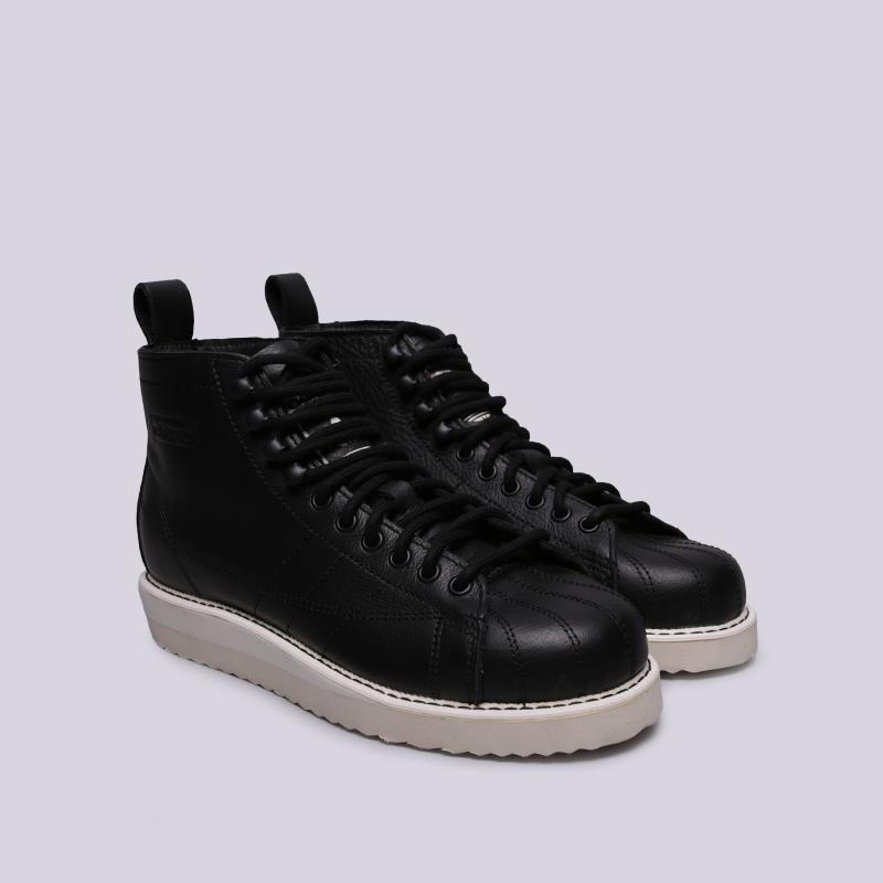женские чёрные  кроссовки adidas superstar boot w AQ1213 - цена, описание, фото 3