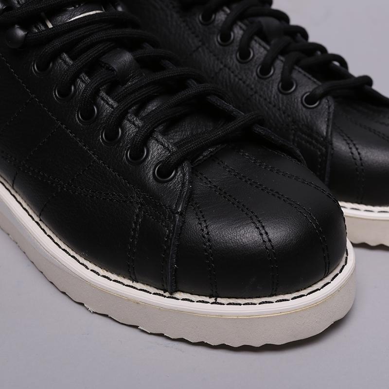 женские чёрные  кроссовки adidas superstar boot w AQ1213 - цена, описание, фото 5