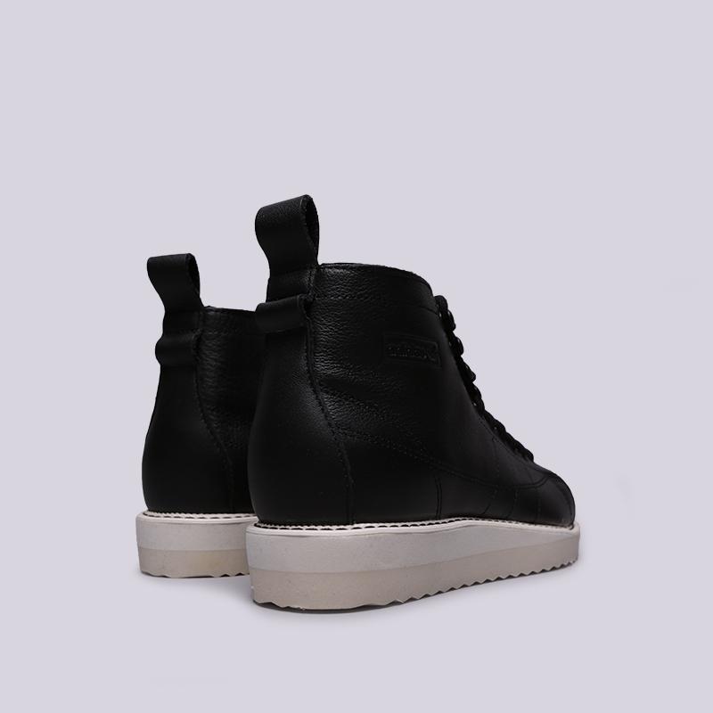 женские чёрные  кроссовки adidas superstar boot w AQ1213 - цена, описание, фото 4