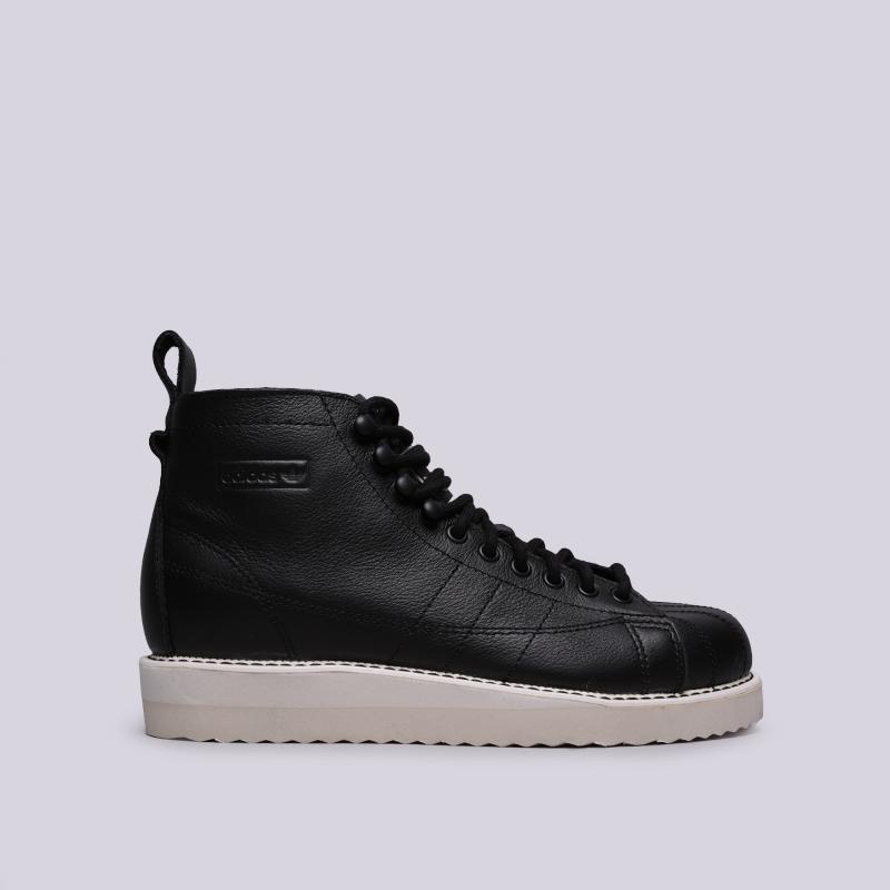 женские чёрные  кроссовки adidas superstar boot w AQ1213 - цена, описание, фото 1