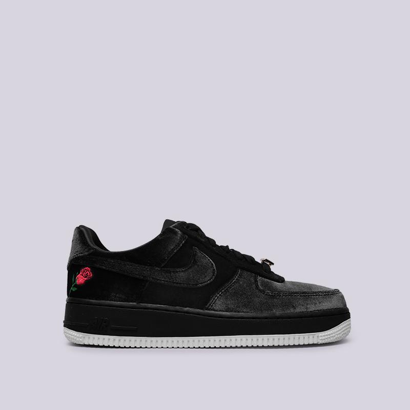 мужские чёрные  кроссовки nike air force 1 '07 qs AH8462-003 - цена, описание, фото 1