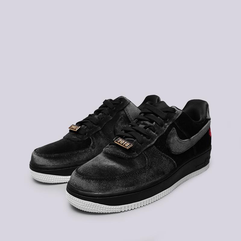 мужские чёрные  кроссовки nike air force 1 '07 qs AH8462-003 - цена, описание, фото 4