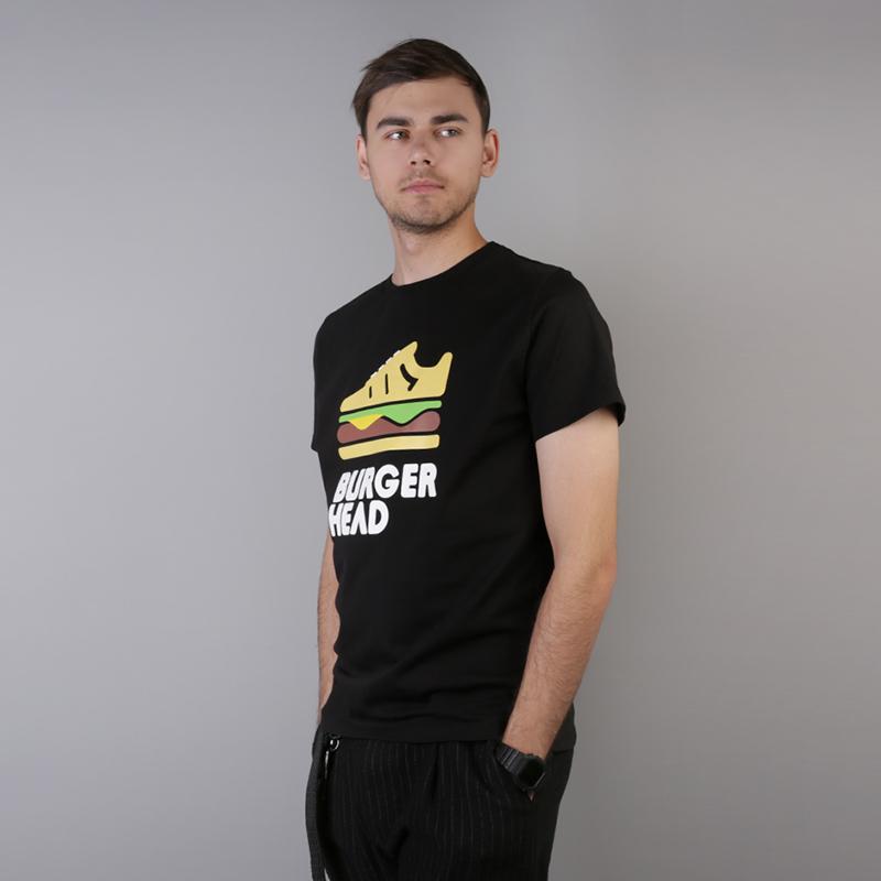 мужскую чёрную  футболка sneakerhead burgerhead Tee burg/head - цена, описание, фото 3