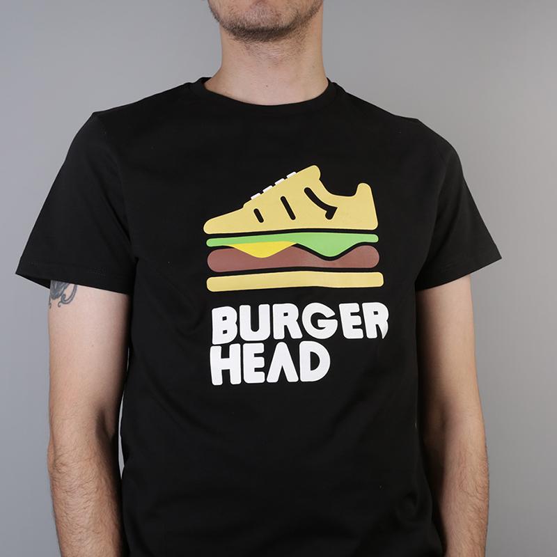 мужскую чёрную  футболка sneakerhead burgerhead Tee burg/head - цена, описание, фото 2