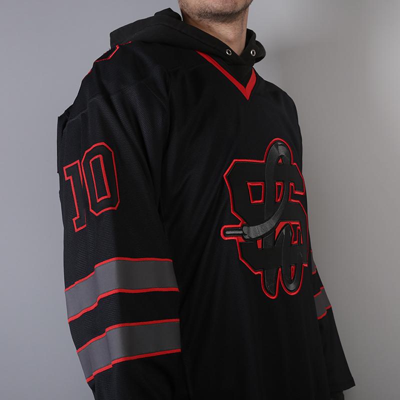 мужской чёрный  хоккейный свитер sneakerhead shd jersey Jersei snkrh - цена, описание, фото 2