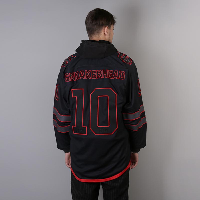 мужской чёрный  хоккейный свитер sneakerhead shd jersey Jersei snkrh - цена, описание, фото 4