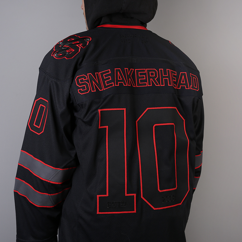 мужской чёрный  хоккейный свитер sneakerhead shd jersey Jersei snkrh - цена, описание, фото 5