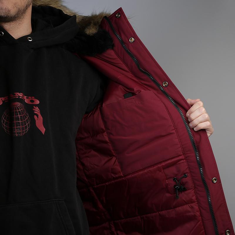 мужскую бордовую  куртку carhartt wip anchorage parka I000728-mulberry/blk - цена, описание, фото 5