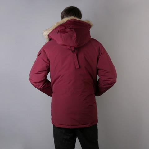 мужскую бордовую  куртку carhartt wip anchorage parka I000728-mulberry/blk - цена, описание, фото 3