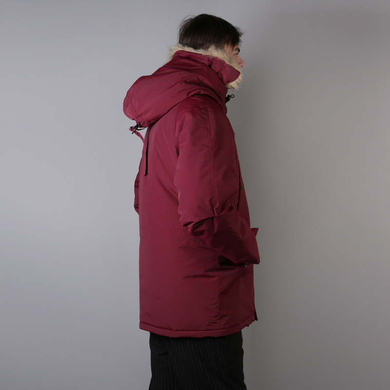 мужскую бордовую  куртку carhartt wip anchorage parka I000728-mulberry/blk - цена, описание, фото 2