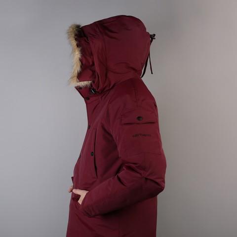 мужскую бордовую  куртку carhartt wip anchorage parka I000728-mulberry/blk - цена, описание, фото 4