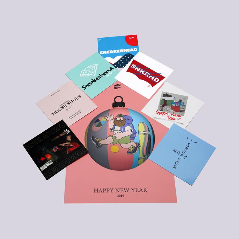 новогодняя открытка sneakerhead pink Post-pink - цена, описание, фото 1