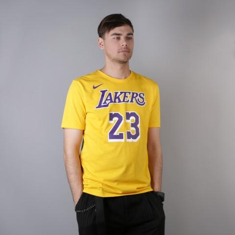 мужскую жёлтую  футболка nike los angeles lakers lebron AR4887-740 - цена, описание, фото 2