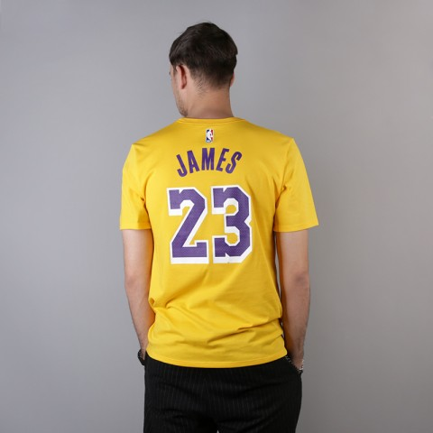 мужскую жёлтую  футболка nike los angeles lakers lebron AR4887-740 - цена, описание, фото 3