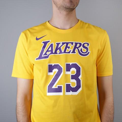 мужскую жёлтую  футболка nike los angeles lakers lebron AR4887-740 - цена, описание, фото 4