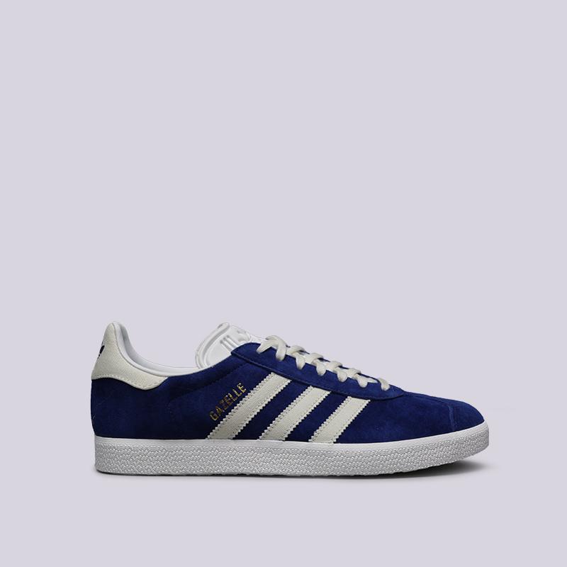 мужские синие  кроссовки adidas gazelle B41648 - цена, описание, фото 1