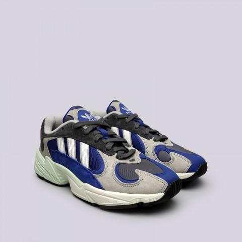 мужские синие, серые  кроссовки adidas yung-1 AQ0902 - цена, описание, фото 3