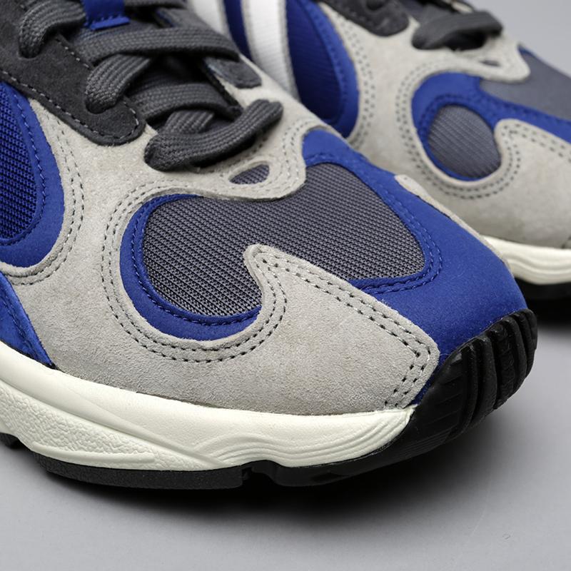 мужские синие, серые  кроссовки adidas yung-1 AQ0902 - цена, описание, фото 5