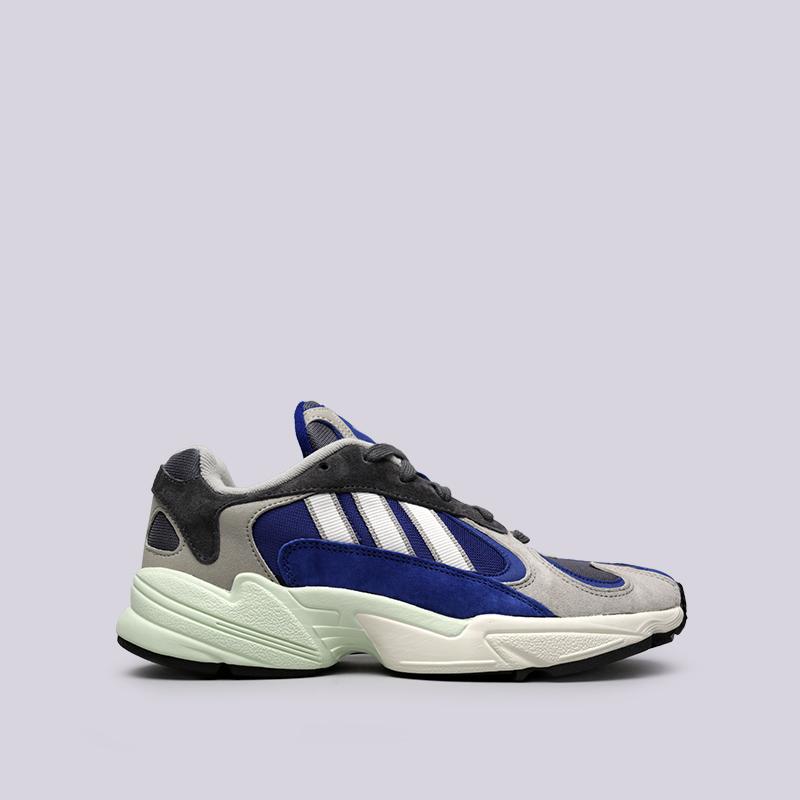 мужские синие, серые  кроссовки adidas yung-1 AQ0902 - цена, описание, фото 1