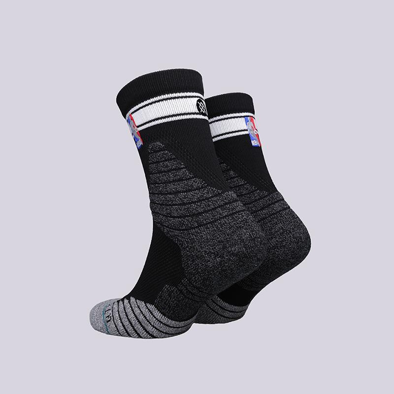 мужские чёрные  носки stance qtr bold stripe M359D6QTBS- black - цена, описание, фото 2