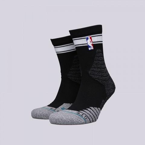 мужские чёрные  носки stance qtr bold stripe M359D6QTBS- black - цена, описание, фото 1