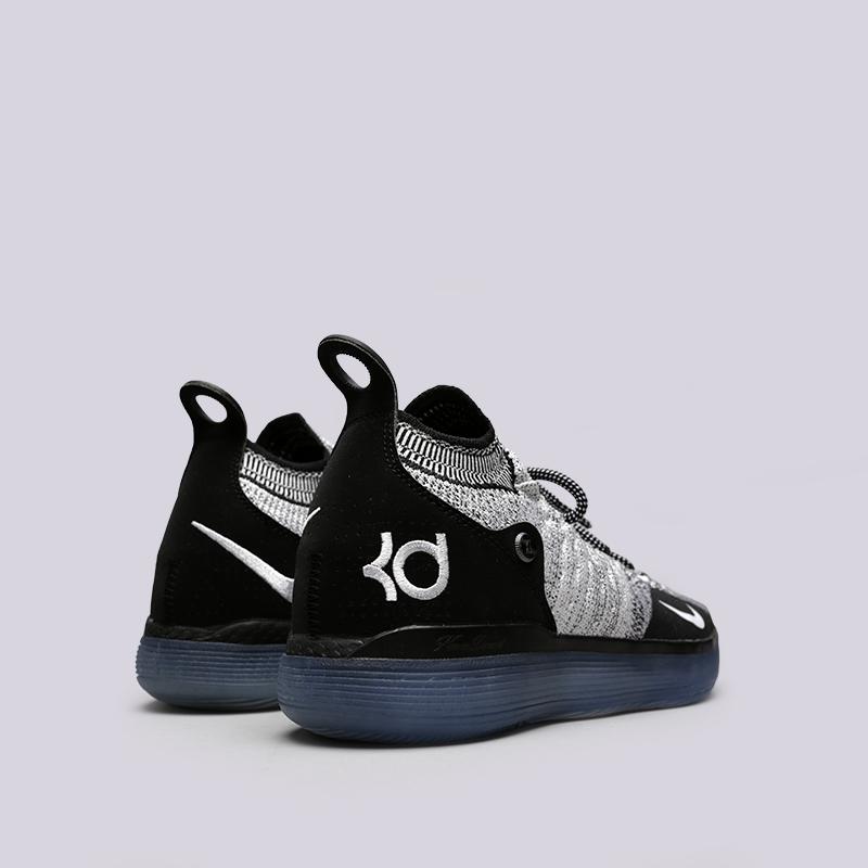 чёрные, белые  кроссовки nike zoom kd11 AO2604-006 - цена, описание, фото 4