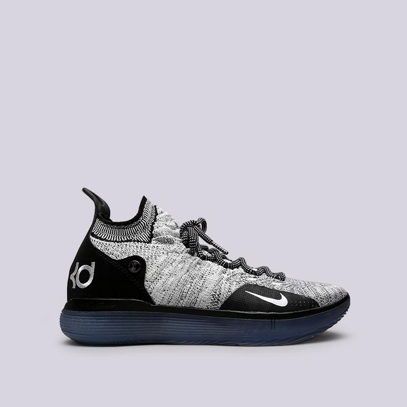 чёрные, белые  кроссовки nike zoom kd11 AO2604-006 - цена, описание, фото 1