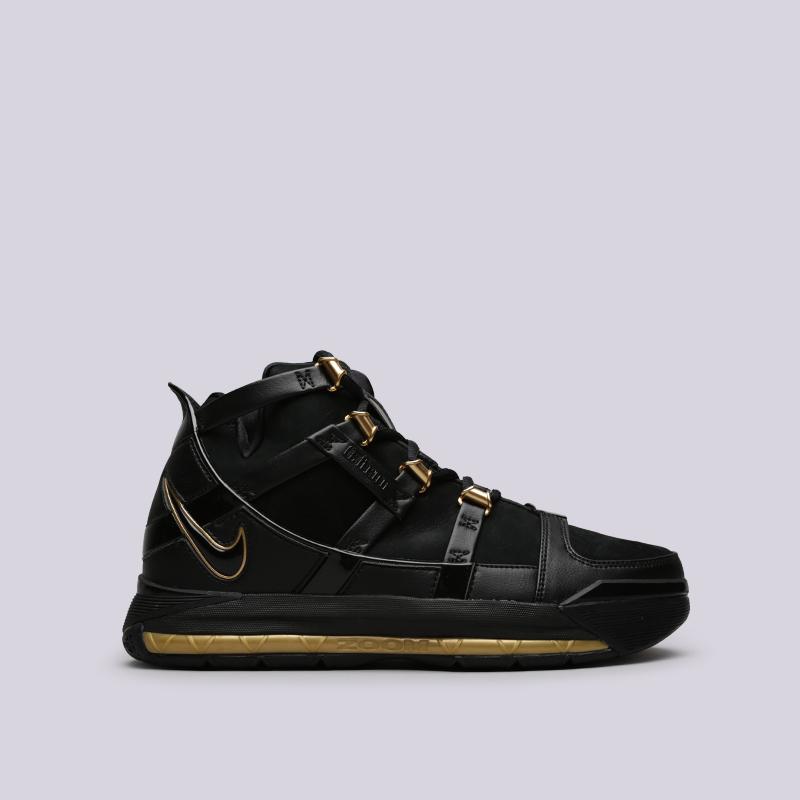 мужские чёрные  кроссовки nike zoom lebron iii qs AO2434-001 - цена, описание, фото 1