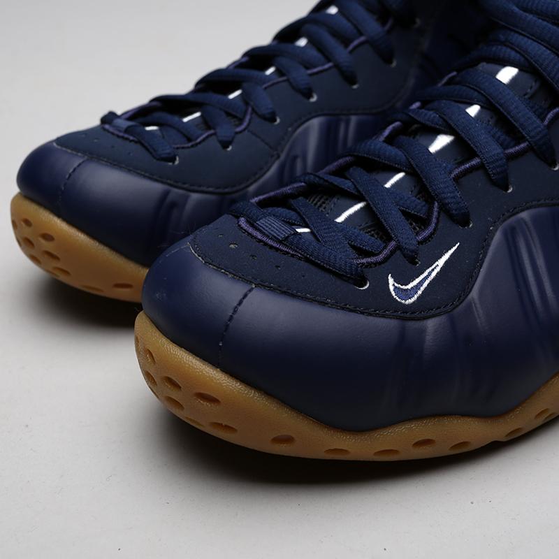 мужские синие  кроссовки nike air foamposite one 314996-405 - цена, описание, фото 5
