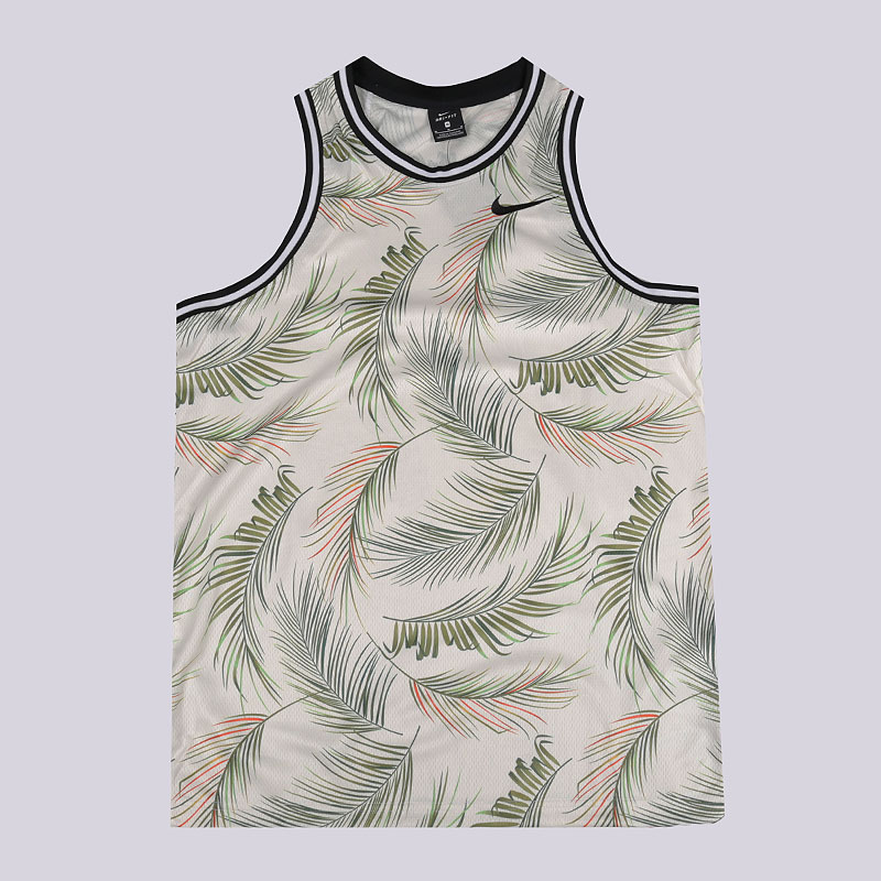 мужскую бежевую  майку nike dri-fit dna men's printed basketball jersey AJ3536-110 - цена, описание, фото 1