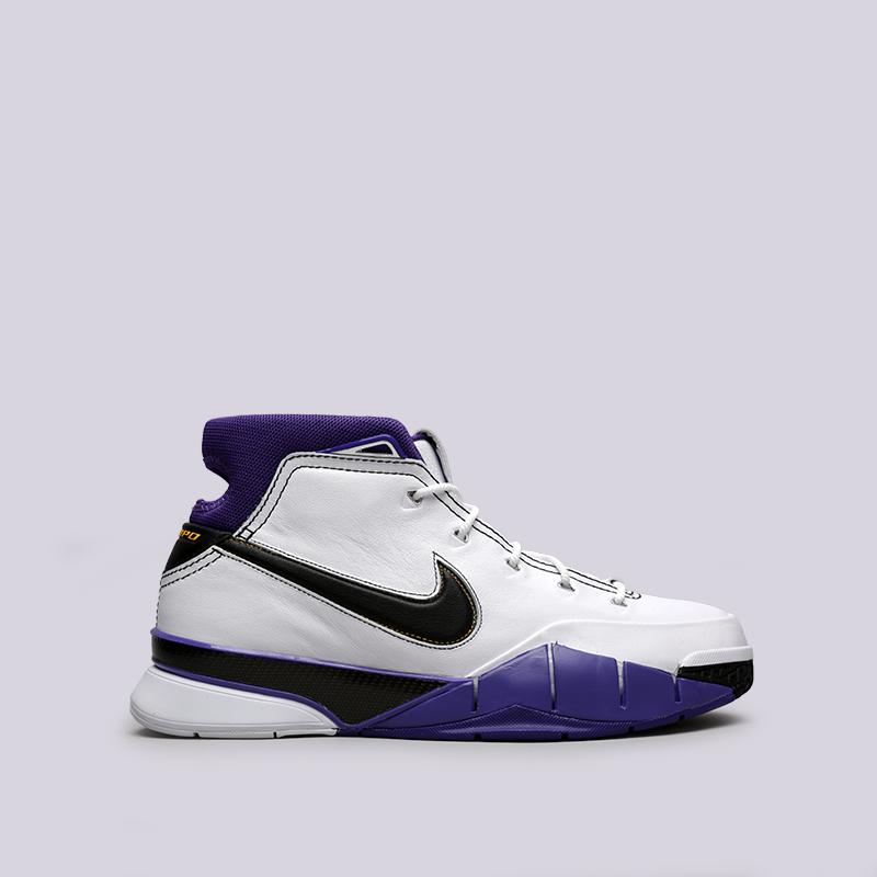 мужские белые  кроссовки nike kobe 1 protro AQ2728-105 - цена, описание, фото 1