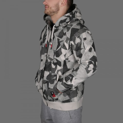 мужскую бежевую  толстовка nike kyrie full-zip hoodie AJ3385-102 - цена, описание, фото 4