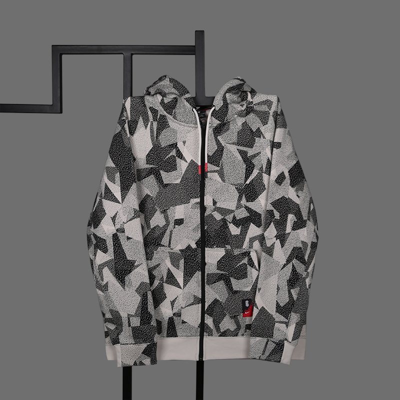 мужскую бежевую  толстовка nike kyrie full-zip hoodie AJ3385-102 - цена, описание, фото 1