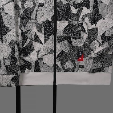 мужскую бежевую  толстовка nike kyrie full-zip hoodie AJ3385-102 - цена, описание, фото 3