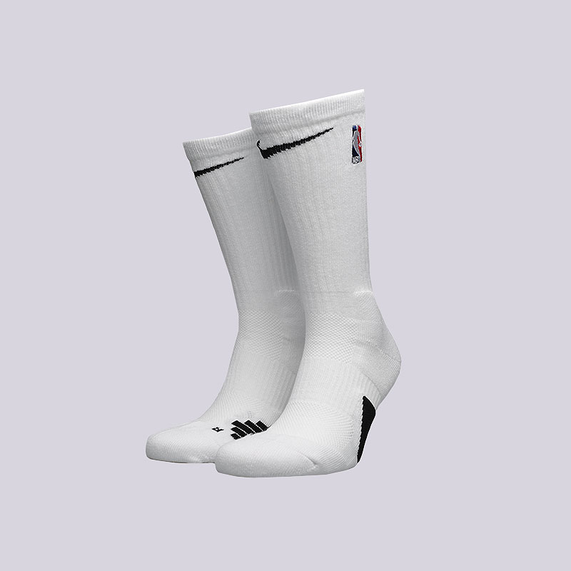 мужские белые  носки nike elite nba crew basketball socks SX7587-100 - цена, описание, фото 1