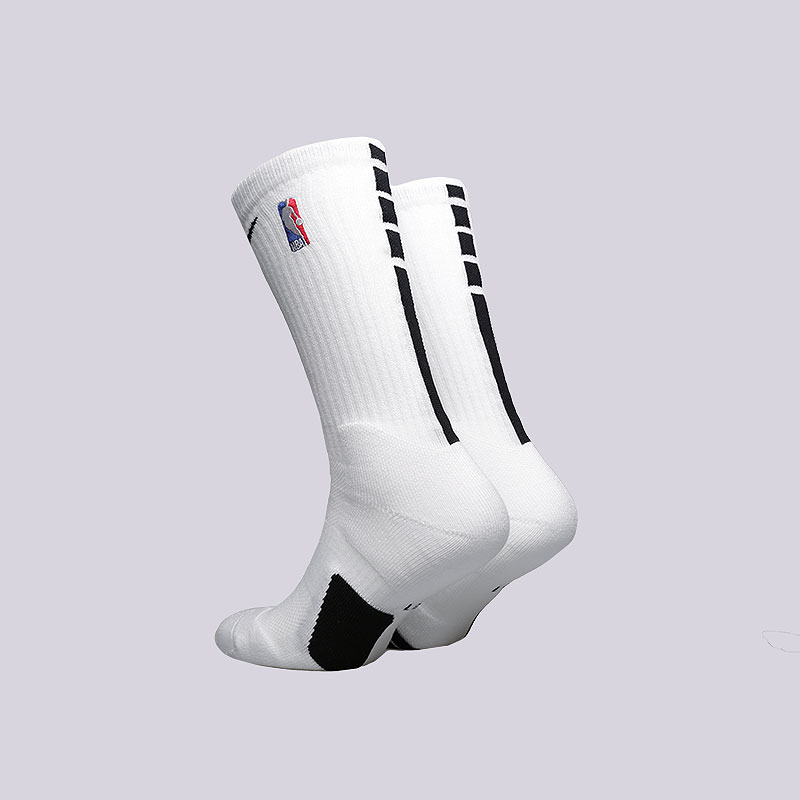 мужские белые  носки nike elite nba crew basketball socks SX7587-100 - цена, описание, фото 2