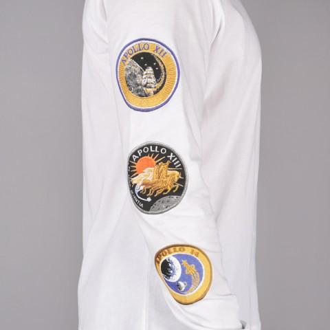 мужской белый  лонгслив nike pg 3 x nasaspace themed tee BQ7534-100 - цена, описание, фото 6
