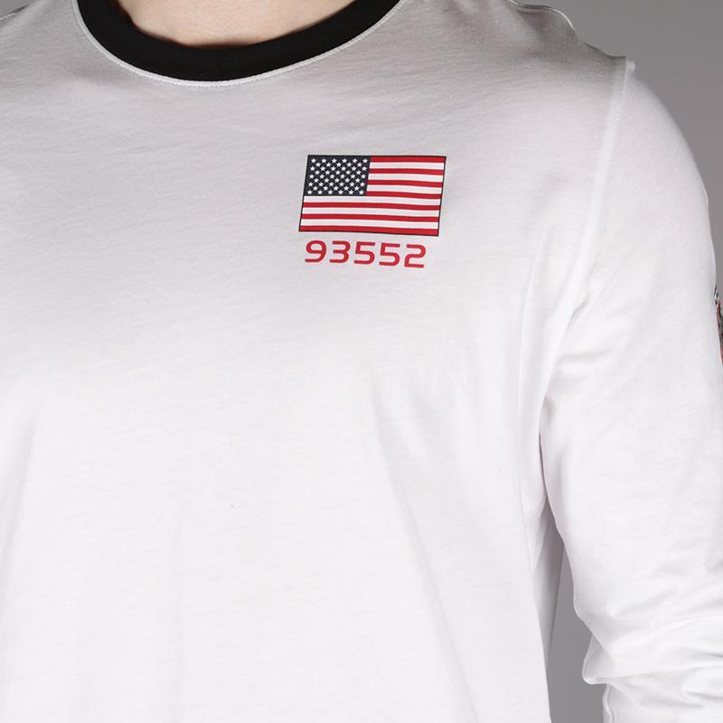 мужской белый  лонгслив nike pg 3 x nasaspace themed tee BQ7534-100 - цена, описание, фото 4